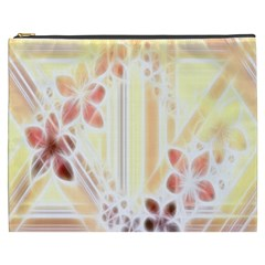 Swirl Flower Curlicue Greeting Card Cosmetic Bag (xxxl)
