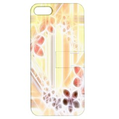 Swirl Flower Curlicue Greeting Card Apple iPhone 5 Hardshell Case with Stand