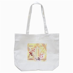 Swirl Flower Curlicue Greeting Card Tote Bag (white)