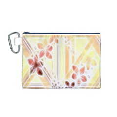 Swirl Flower Curlicue Greeting Card Canvas Cosmetic Bag (m)