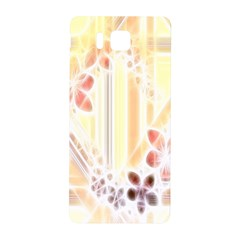 Swirl Flower Curlicue Greeting Card Samsung Galaxy Alpha Hardshell Back Case
