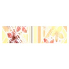 Swirl Flower Curlicue Greeting Card Satin Scarf (oblong)