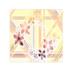 Swirl Flower Curlicue Greeting Card Small Satin Scarf (Square)