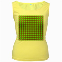 Wrapping Paper Christmas Paper Women s Yellow Tank Top
