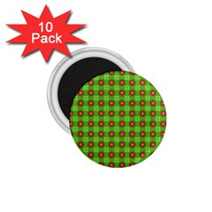 Wrapping Paper Christmas Paper 1 75  Magnets (10 Pack)