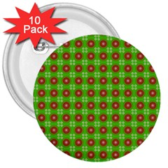 Wrapping Paper Christmas Paper 3  Buttons (10 Pack)