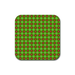 Wrapping Paper Christmas Paper Rubber Coaster (square)