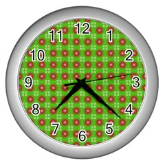 Wrapping Paper Christmas Paper Wall Clocks (silver)