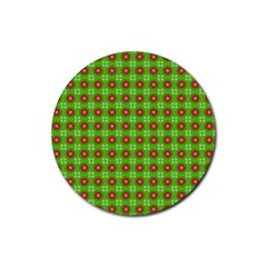 Wrapping Paper Christmas Paper Rubber Round Coaster (4 Pack)