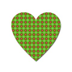 Wrapping Paper Christmas Paper Heart Magnet
