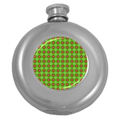 Wrapping Paper Christmas Paper Round Hip Flask (5 Oz)