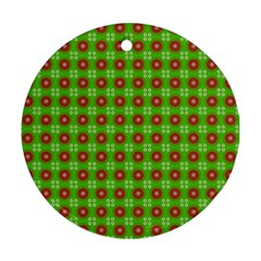 Wrapping Paper Christmas Paper Round Ornament (Two Sides)