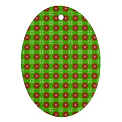Wrapping Paper Christmas Paper Oval Ornament (two Sides)