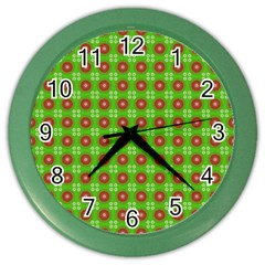 Wrapping Paper Christmas Paper Color Wall Clocks
