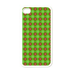 Wrapping Paper Christmas Paper Apple iPhone 4 Case (White)