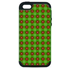 Wrapping Paper Christmas Paper Apple Iphone 5 Hardshell Case (pc+silicone)