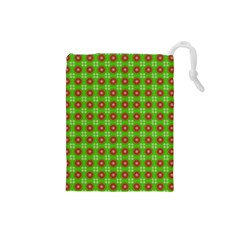 Wrapping Paper Christmas Paper Drawstring Pouches (small)