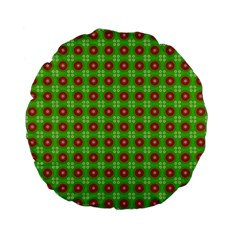 Wrapping Paper Christmas Paper Standard 15  Premium Flano Round Cushions