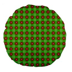 Wrapping Paper Christmas Paper Large 18  Premium Flano Round Cushions