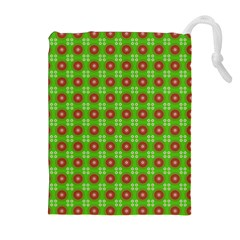 Wrapping Paper Christmas Paper Drawstring Pouches (Extra Large)