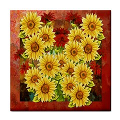 Sunflowers Flowers Abstract Tile Coasters