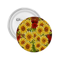 Sunflowers Flowers Abstract 2.25  Buttons