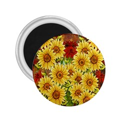 Sunflowers Flowers Abstract 2.25  Magnets