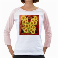 Sunflowers Flowers Abstract Girly Raglans