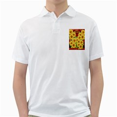 Sunflowers Flowers Abstract Golf Shirts