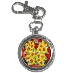 Sunflowers Flowers Abstract Key Chain Watches