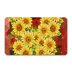 Sunflowers Flowers Abstract Magnet (rectangular)