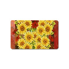Sunflowers Flowers Abstract Magnet (name Card)