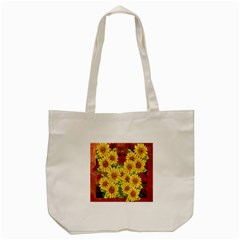 Sunflowers Flowers Abstract Tote Bag (Cream)