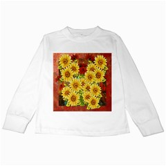 Sunflowers Flowers Abstract Kids Long Sleeve T-Shirts