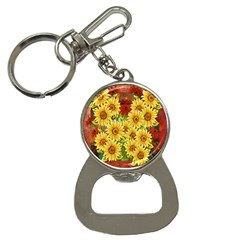 Sunflowers Flowers Abstract Button Necklaces