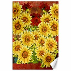 Sunflowers Flowers Abstract Canvas 24  x 36