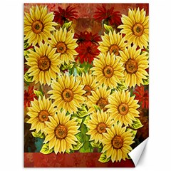Sunflowers Flowers Abstract Canvas 36  x 48
