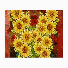 Sunflowers Flowers Abstract Small Glasses Cloth (2-Side)
