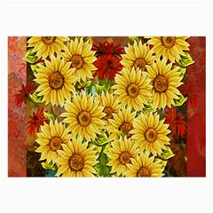 Sunflowers Flowers Abstract Large Glasses Cloth (2-Side)