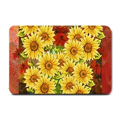 Sunflowers Flowers Abstract Small Doormat