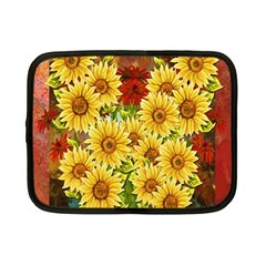 Sunflowers Flowers Abstract Netbook Case (Small)