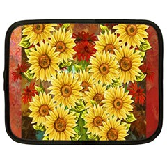 Sunflowers Flowers Abstract Netbook Case (Large)