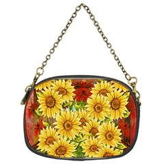 Sunflowers Flowers Abstract Chain Purses (One Side)