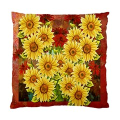 Sunflowers Flowers Abstract Standard Cushion Case (Two Sides)
