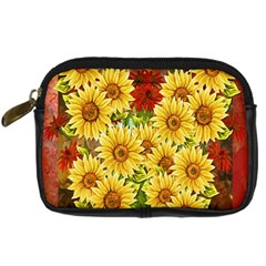 Sunflowers Flowers Abstract Digital Camera Cases