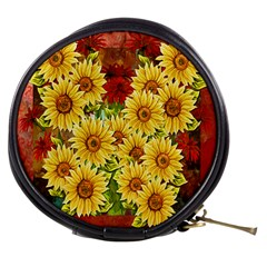 Sunflowers Flowers Abstract Mini Makeup Bags