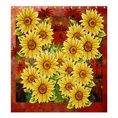 Sunflowers Flowers Abstract Shower Curtain 66  X 72  (large)