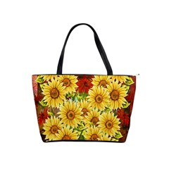 Sunflowers Flowers Abstract Shoulder Handbags