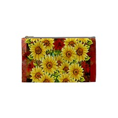 Sunflowers Flowers Abstract Cosmetic Bag (Small)