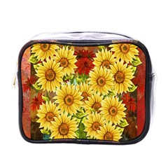 Sunflowers Flowers Abstract Mini Toiletries Bags